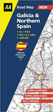 Map Of Northern Spain And Portugal.Galicia And Northern Spain Aa Road Map Spain Portugal