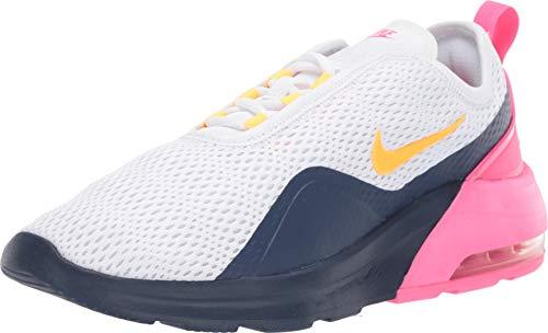 Nike Women's Air Max Motion 2 White/Laser Orange/Midnight Navy 8 B US (Orange Nike Shoes Women)