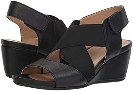 Naturalizer Women's Cleo Wedge Sandal, Black, 12 M US