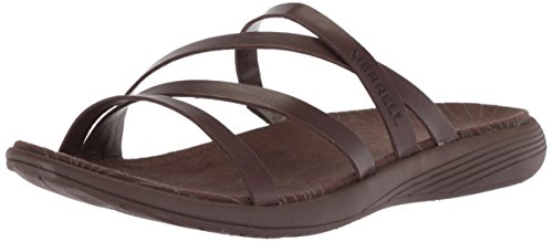 Merrell Women's Duskair Seaway Slide Leather Sandal, Bracken, 9 Medium US