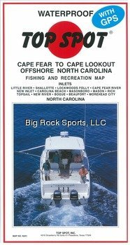 Top Spot Fishing Map for Offshore North Carolina Cape