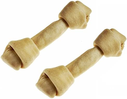 2 Pack Tasmans Bison Rawhide Large Bones, 9-10 Inches each