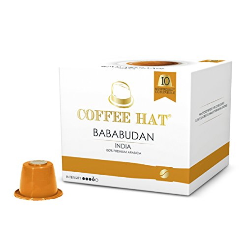 COFFEE HAT Bababudan from INDIA - 20 Nespresso Compatible Coffee Capsules