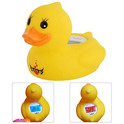 Baby Bath Thermometer - LED Digital Infant Pet Baby Bath Thermometer Timer Water Sensor Safety Duck Floating Toy ℃/℉ Alarm Function Bathroom Fun Toys Gift ( Duck Bath Thermometer )