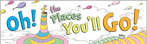 BirthdayExpress Dr. Seuss Oh The Places You'll Go Graduation Party Supplies Banner