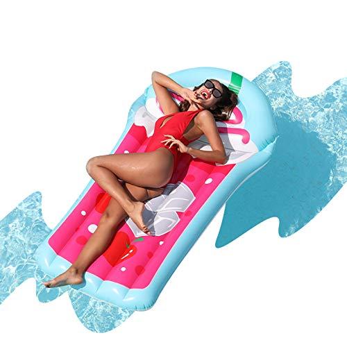 AIRMYFUN 주스 팽창식 거대한 수영장 부동 성인 팽창식 RECLINER 뗏목 여름 파티 테마 청소년 물 게임 액세서리 창조적인 주스 한 컵 스타일