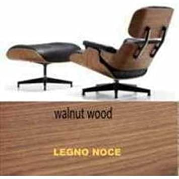 Sessel Und Sitzsack Kunstleder Eames Lounge Chair Style Echt Leder Genarbt  Schwarz U2013 Holz Walnuss