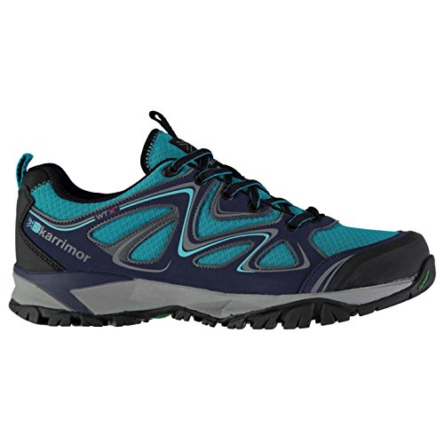 Karrimor Womens Surge WTX Waking Shoes Waterproof Lace Up Padded Ankle Collar Turquoise/Navy dTT6j
