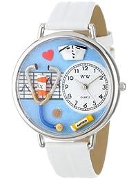 Unisex U0620013 Nurse White Leather Watch