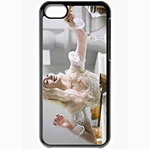 Personalized iPhone 5C Cell phone Case/Cover Skin Anne hathaway alice in wonderland movies Black