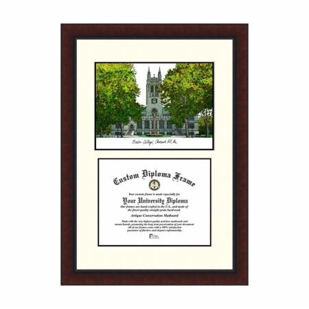(Campus Images MA994LV Boston College Legacy Scholar Diploma Frame, 12.8
