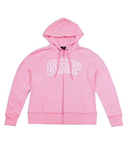 gap-womens-fleece-arch-logo-full-zip-hoodie-large-light-pink