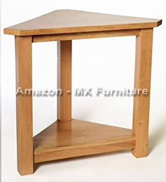 New Solid Oak Corner Flower / Lamp / Plant / Phone / Telephone / Display  Table