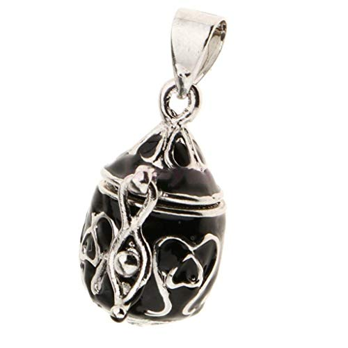 Unique Waterdrop Cremation Keepsake Memorial Urn Locket Charm Pendant Casket Necklace Jewelry Crafting Key Chain Bracelet Pendants Accessories Best| Color - Black