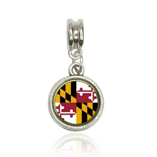 Maryland State Flag Euro European Italian Style Bracelet Bead ()