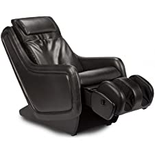 Black Human Touch ZeroG 2.0 Immersion Seating Massage Chair - Ergonomic Massager Zero Anti Gravity Massaging Recliner in Leather Like Upholstery + 5 Year In Home Parts and Labor Warranty