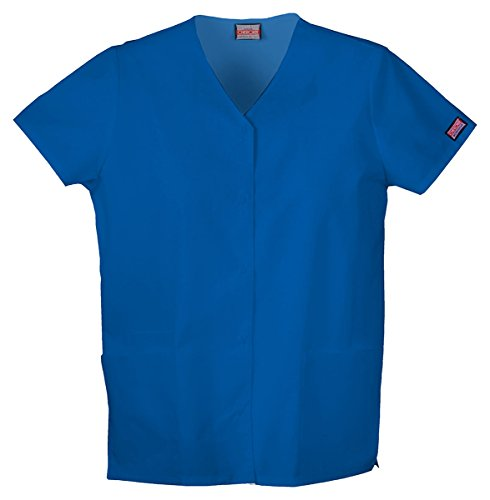 Cherokee Workwear Women's Snap Front V-Neck Shirt_Royal_XXXX-Large