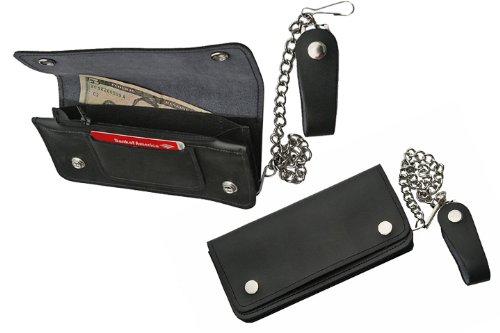 Price comparison product image Szco Supplies Large Bi-Fold Biker Wallet,  8x3.75-Inch