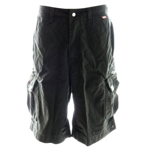 Beach Bumpers Mens Cargo Shorts - 100% Cotton Premium Quality Outdoor Multi-use, Large Coal Black by Molecule