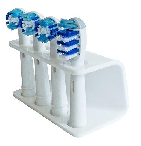 Seemii Zahnbürstenhalter für elektrische Bürstenköpfe - Plastik, 4 Kopf Halter, Weiß