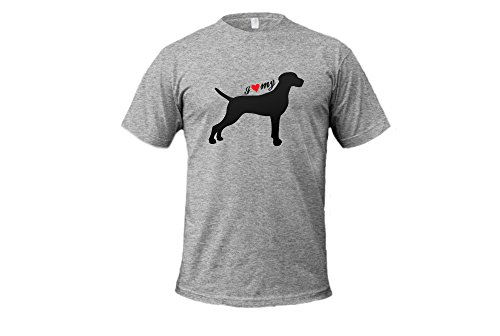 Dogs - I Love My Weimaraner - Unisex Adult Tshirt (Scottish Terrier Dog Names)