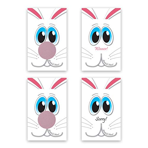 (Easter Bunny Scratch-Off Giveaway Cards, Family/Party Casino Games, Pack of 25 )