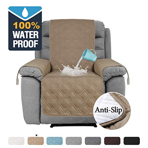 H.VERSAILTEX 100% Waterproof Recliner Protector Non-Slip Furniture Cover for Recliner Chair, Sofa Protector Recliner Chair Cover Stay in Place Protect from Pets Spills (Recliner 22