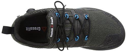 Reebok Mens R Crossfit Nano Pump FS Cross-Trainer Shoe Black/Far Out Blue wOQqGNFw