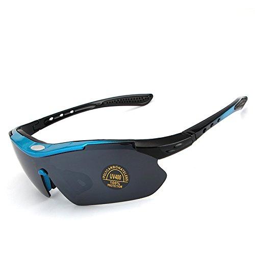 Gafas de Hombre Sol Color Espejo Libre Blue Deportes Marco polarizado Gafas White Yumeik de Verano Sol de al Gafas Sol Aire w6zpgBq