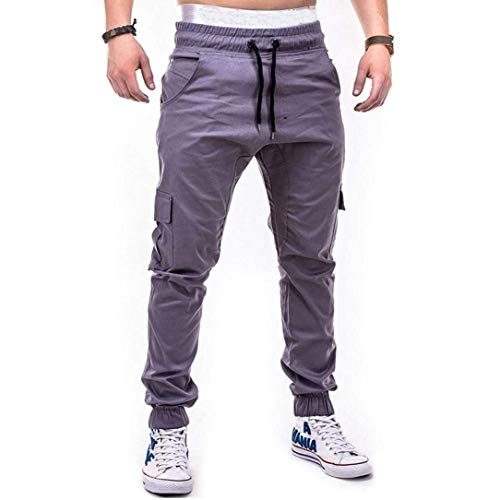 Pantaloni In Longra Slim Lunghi Men Pants Cargo Basic Casual Fit Jeans Grigio Tessuto Jogger Chino Stretch gBg4t1q