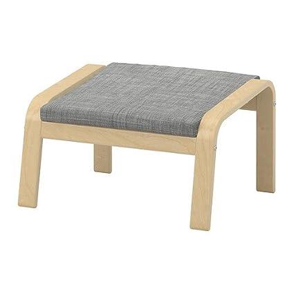 Amazon.com: Ikea Ottoman, birch veneer, Isunda gray ...