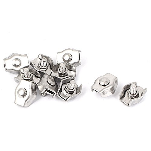 dealmux-m3-stainless-steel-simplex-wire-rope-clip-cable-clamps-10-pcs