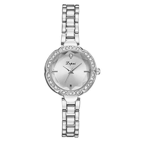 Londony◈ Women Unisex Watches Diamond Gold Watches Quartz Calendar Bezel Watch Rhinestone Band Bracelet Wristwatch