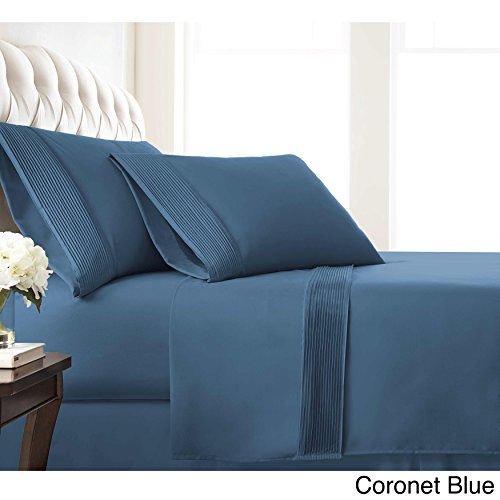 Southshore Fine Linens? Southshore Fine Linens Extra Deep Pocket Pleated Sheet Set Coronet Blue Twin XL 3 Piece - Extra Fine Linen