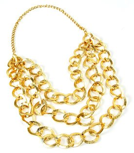 Pimp Costume Uk (Gold Mr T Bling Chain Necklace)