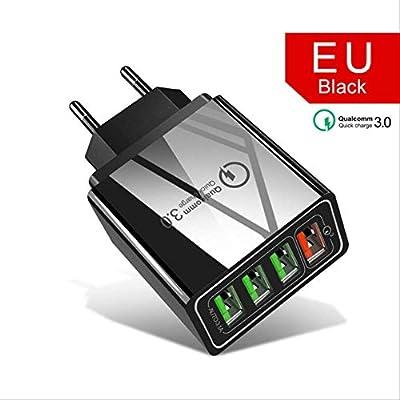 VBGFRTD Cargador USB de 4 Puertos 48w Cargador rápido 3.0 ...