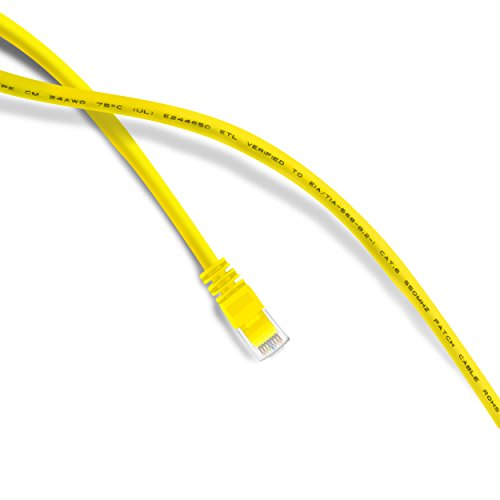 GearIT 3 Feet Cat 6 Ethernet Cable Cat6 Snagless Patch - Computer LAN Network Cord, Yellow