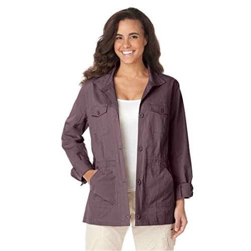 91723c9f6b outlet Woman Within Women s Plus Size Sport Twill Utility Jacket ...
