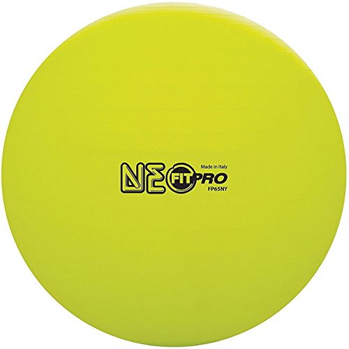Champion Sports Fit Pro Training & Exercise Ball, Neon Yellow, 53cm