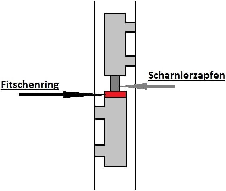 Mengenauswahl m/öglich Scharnierscheiben//Fitschenringe /Ø 11mm x 16mm x 2mm vermessingt 100