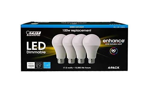 Feit Dimmable LED 5000K Daylight 4-Pack (100W Replacement) - Light Bulbs Feit Electric