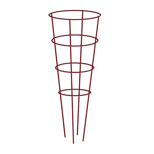 Gilbert & Bennett 901592RE-5 Red 54'' Galvanized Tomato Cage, 5 Pack by Gilbert & Bennett
