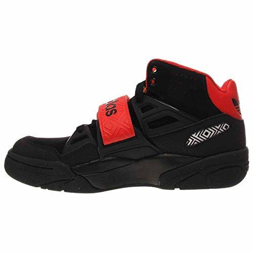 Adidas Man Mutombo Tr Blockera Skor # 98038 (blk / Blk / Hög Res Röd) Svart / Svart / Hög Res Röd