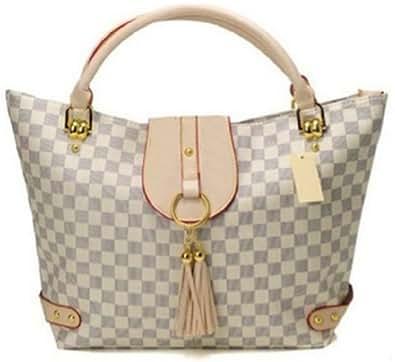 Bushels Handbags White Inspired Fashion Totes Pu Leather Lady Handbags