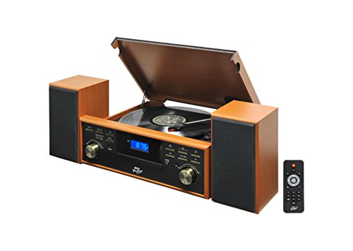 Pyle PPTCM80BTBR Bluetooth Turntable Recording