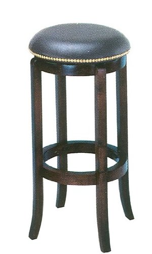 acme Espresso Finish Wood 24 H Swivel Bar Stool Counter Chair