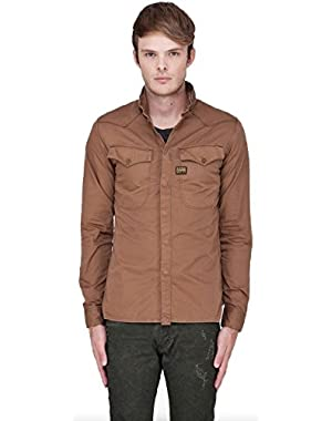 G Star RAW Co Officer Shirt in Fox Brown, Size L $170