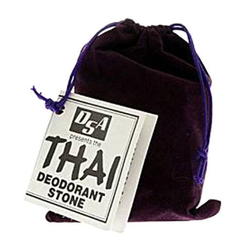 Thai Deodorant Stone 5.5 Ounces with Velvet Pouch