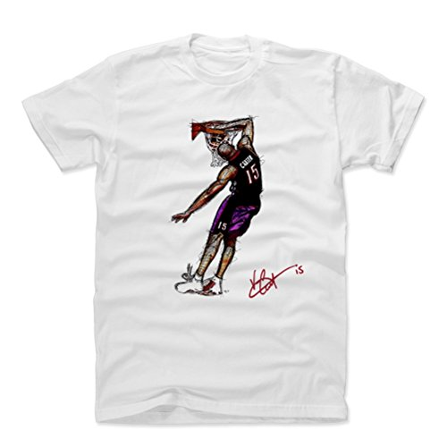 Vince Carter Basketball (500 LEVEL Vince Carter Cotton Shirt (X-Large, White) - Toronto Raptors Men's Apparel - Vince Carter Honey Dip Signature P)