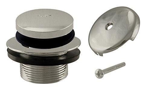 (Westbrass Tip-Toe Coarse Thread Tub Trim Set with 1-Hole Overflow Faceplate, Satin Nickel, R93-07)